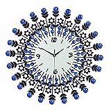 Yxxc Uhrenbeweger, modische Wandornamente, Diamantuhr, Pastorale Kreativuhr im europäischen Stil, Wohnzimmerwanduhr, EIN Uhrenbeweg