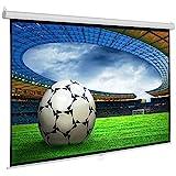 SlenderLine Base Beamer Leinwand 220 x 173 cm   Format 4:3   1.2 Gain   Full-HD 4K & 3D geeignet   manuelle Rolloleinwand   Heimkino und Präsentation   Decken- BZW. Wandmontag