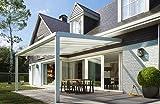 Premium Alu Terrassendach Überdachung Dach Vordach Carport (anthrazith, Breite 4000 mm x Tiefe 4000 mm)