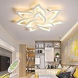 LED Deckenleuchte Dimmbar ,Wohnzimmerlampe mit Fernbedienung Farbwechsel ,Schlafzimmer Deckenlampe moderne Deckenbeleuchtung Deckenbeleuchtung Kronleuchter Lampe,Dimming 10 heads/Ø85cm/33.4in