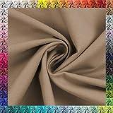Baumwollstoff Uni 100% Baumwolle Oeko-Tex Meterware über 50 Farben zur Auswahl (038 Taupe, 50 x 148cm)