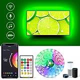 LED TV Hintergrundbeleuchtung 75 zoll, 5M Smart USB LED Stripes Alexa with App Musik Sync RGBW 6500K Hintergrundbeleuchtung für 75 80 82 TVs Beleuchtung