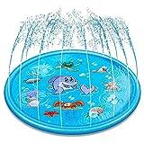 LQ-MAOZI Kinderplanschbecken Planschbecken, 172cm/68 Gartenpool Sprinkler/Sprühmatte für Babybecken ab 2 Jahren,Wassersprühmatte für Familienaktivitäten/Party/Garten,B