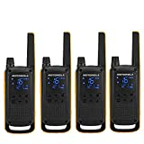 Motorola Talkabout T82 Extreme Quad PMR Funkgerät (Bis zu 10 km Reichweite, IPx4 Wetterschutz, 500 mW, VOX)