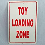 AMELIA SHARPE Blechschild 'Toy Loading Zone', 30,5 x 20,3 cm