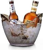 4L Eiseimer Champagner Eimer,Eis Eimer,Weinkühler Sektkühler,Eiskübel,Küchenobst Und Gemüse Vorratsbehälter Behälter,Black clear
