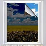 Xtracare Spiegelfolie Selbstklebend Fensterfolie Innen Sonnenschutzfolie für Wärmeisolierung, 99% UV-Schutz und Sichtschutz (Schwarz, 90 x 400 cm)