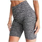 Leggings Damen Damen Titten Schleim Stretch Hohe Taille HüFte Stretch Fitness ÜBung Slim Gewichtsverlust Yoga Shorts Sportswear
