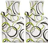 Beautissu Renforcé Bettwäsche Bezug 4-TLG Set Nina 135x200 cm Bettdecken Bezug & Kissenbezug 80x80 cm 100% Baumwolle Bettbezug mit Reißverschluss