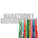 United Medals Marathon Medaille Kleiderbügel | Edelstahl Medaillenhalter | 43cm / 48 Medaillen