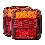Rücklichter Rückleuchten Autokennzeichen Beleuchtung Lichter Leuchten Rückleuchten Rückfahrlicht von LiNKFOR 12V LED Rücklicht Blinker mit E-Mark für Anhänger LKW UTE Boot Vans Caravan Wohnwagen