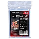 Ultra Pro Soft Kartenhüllen, 100 Stück, 6,1 x 9,1 cm, Standardgröße, für Sammelkartenspiele, transparent (100 Stück)