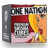 ONE NATION   4 KG   Shisha Kohle Naturkohle aus 100% Kokosnuss - bis zu 120 Minuten Brenndauer   starke Hitze   kein Eigengeschmack