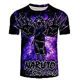 cyxb Kurze Ärmel Grafik T Shirts Männer Fun Shirt,3D Digital Naruto Ninja Top Männliche T-Shirt Leder Freizeit-XT282_XLarge