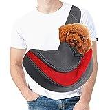 MELARQT Hundetasche, Tragetasche Hund, Tragetuch Hundetasche für Kleine Hunde, Katze Haustier Hand Schleuderträger Schultertasche Verstellbare Gepolsterte Schultergurt Hundetrageb