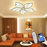 LED Deckenleuchte APP Dimmbar Wohnzimmerlampe - Schlafzimmerlampe mit Fernbedienung Farbwechsel Deckenlampe moderne Energie Sparen Dimming Deckenbeleuchtung Lampe für Wohnzimmer Kücke Bad Kinderzimmer