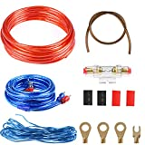 ATPWONZ 8GA Car Audio Wire Wiring Amplifier Subwoofer Speaker Installation Kit Power Cable 60 AMP Fuse Holder