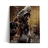 5D Diamond Painting Bilder Set für Erwachsene Assassin's Creed: Odyssey Altaïr DIY Runde Steine Diamant Malerei Kits Kreuzstich, Leinwand-Wanddekoration 40x50cm,Ohne R