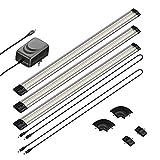 parlat LED Unterbau-Leuchte SIRIS, flach, je 50cm, 100cm Kabel, 500lm, warm-weiß, 3er Set