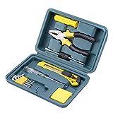 Blkthun 12-teiliges Werkzeugkoffer, Werkzeugset, Werkzeugkasten für die tägliche Wartung