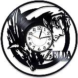 hhhjjj Junge Zimmer Videospielkonsole Dekoration Link Spieler Videospiel Geburtstagsgeschenk kreative handgemachte Uhr Die Legende von Zelda Schallplatte Wanduhr Verwandte Uhr
