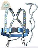 Jubi® Pferdeleine Kinder - größenverstellbar für perfekten Sitz - Pferdegeschirr für Kinder inkl. extra Lange Leine / Pferdespielzeug