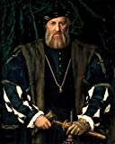 AMANUO Holbein Porträt Leinwand Wandkunstdruck Malerei 50X60 cm Gemälde Aufgerollt - Charles De Solier Sieur De M