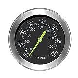 UPPOD Thermometer grillzubehör Thermostat Grill Thermometer für Smoker mit Rosette, Grillen, Backen, Ofen und Räucherofen S304 Edelstahl (Bis zu 400 °C) ... (small)