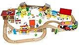 ISO TRADE Spielzeug-Eisenbahn Holeisenbahn Kinder Zug Set 89 Teile 11222