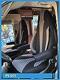 Maß Sitzbezüge Schonbezüge kompatibel mit FIAT Ducato Typ 250 Fahrer & Beifahrer ab 2006 - 2022 PL401