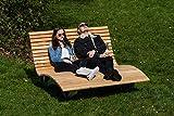 Sonnenliege Waldsofa Forst 150 für 2-3 Personen aus Holz   Außenliege, Himmelsliege, Wellnessliege, Holzliege für den Garten