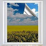 Xtracare Spiegelfolie Selbstklebend Fensterfolie Innen Sonnenschutzfolie für Wärmeisolierung, 99% UV-Schutz und Sichtschutz Silber,60 x 200 cm