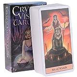 LPWCAWL Crystal Visions Tarot, Divination Destiny Tarot Deck, Brettspiel Karte für Erwachsene und Kinder, 78 Karten, Englische Version