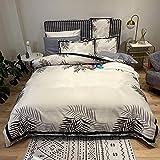 BettwäSche Grau 135 X 200,Seide BettwäSche, Sommer Seidige Haut Atmungsaktive Bett Einzelne Tropfen Cover Bett Einzelne Kissen Set Urlaub Geschenk-Bett!_f_1,8m Bett (4 StüCke)