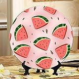 Nette Wassermelonenscheiben Obst Kinderteller Keramik Dekorative China Teller Home Wobble-Platte Mit Display Stand Dekoration Haushalt Kinder Teller Keramik