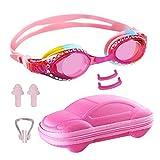 Ambielly Kinderbrille Zum Schwimmen, Anti Nebel Taucherbrille Für Kinder, Kein Leck Taucherbrille Für Kinder (Pink)