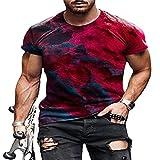 WAQD Herren Tshirt Tee T-Shirt für Männer Poloshirt Basic Shirt Shortsleeve Kurzarm Sweatshirt Sport Oberteil Muscle Shirt Basic Kurzarm Street Fashion Casual T-Shirts Kurzarmshirt Rundhals Tshirt