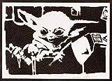 Baby Yoda Poster The Child Mandalorian STAR WARS Plakat Handmade Graffiti Street Art - Artwork