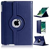DN-TECHNOLOGY Schutzhülle für Apple iPad Mini 2 / 3 (nicht für iPad Mini 4), 360 Grad drehbar, Leder, Smart Auto Wake/Sleep Flip Case für Apple iPad iMini2/Mini3, stoßfest, Königsblau