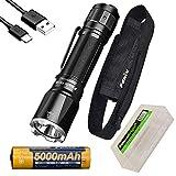 EdisonBright Fenix TK16 V2 3100 Lumen LED Taktische Taschenlampe, USB wiederaufladbar ARB-L21-5000U Li-Ionen-Akku BBX5 Batteriegehäuse Bundle