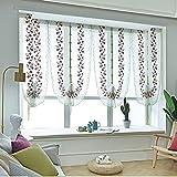 HOOJUEAN Raffrollo mit Schlaufen Gardinen Küche Raffgardinen Transparent Schlaufenrollo Vorhänge Modern Voile für Wohnzimmer Schlafzimmer 80 x 200cm80 x 120cm-08