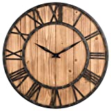 Wanduhr Vintage, Likeluk 15 Zoll (40cm) Lautlos Vintage Wanduhr Holz Uhr Uhren Wall Clock ohne Tickg