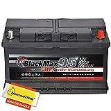 BlackMax Starterbatterie 12V 100Ah Batterie statt 74Ah 75Ah 88Ah 90Ah inklusive Polfett