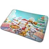 yunyang Weihnachten Garfield Teppich Innen- und Außeneingang Teppiche Badezimmer Küche rutschfeste Matte Pad Schuhschaber 15,7 x 23,5 Zoll