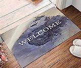 Yumanluo Rutschfester Schmutzfängerfußmatte,Digitaldruck-Fußmatte, rutschfeste Saugfilz-Fußmatte-B_Felt 45x75,Fußmatte in vielen Größen