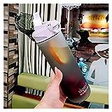 JSJJRGB Wasserbecher 850ml 680ml 450mlcreative Sportflasche Saugnapf Getränkebehälter Tropfen Wasserflasche Tragbare Waage Plastikbecher (Capacity : 450ml, Color : 1)