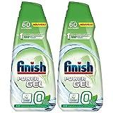 Finish Reinigungsgel, 0% Ecolabel, Spülmaschinen-Reiniger, 900 ml, 2 Stück