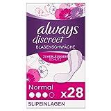 Always Discreet Inkontinenzeinlagen Normal (28 Binden) Diskreter Schutz & hohe Saugstärke, Geruchsneutralisierend