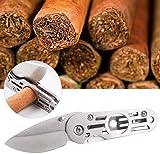 HEEPDD Tasche Zigarren Schneider, Beste Zigarre Edelstahl scharfe Klinge Mehrzweck Rundkopfschere Männer Ehemann (kein Tabak)