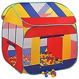 Großes Spielzelt – 123 x 120 x 126 cm – Spielhaus mit 300 Bällen, transparente Oberfläche garantiert eine sichere Überwachung, abnehmbares Dach, faltbar, mit Handtasche, Polyester und Stahldraht.